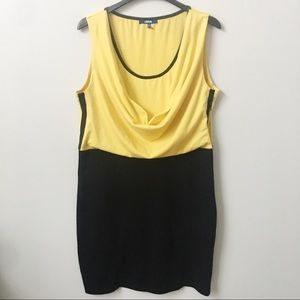 Asos Yellow and Black Taxi Dress Plus Size